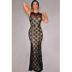 La robe sirène noire/nude