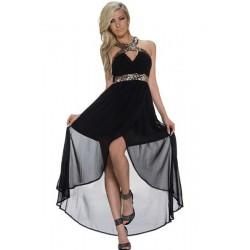 La robe de soirée dos nu noir et or
