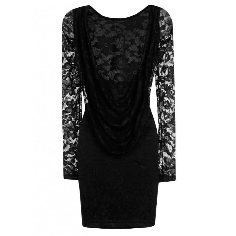 La robe en dentelle dos nu drap sur bustiers et corsets - Robe dentelle dos nu ...