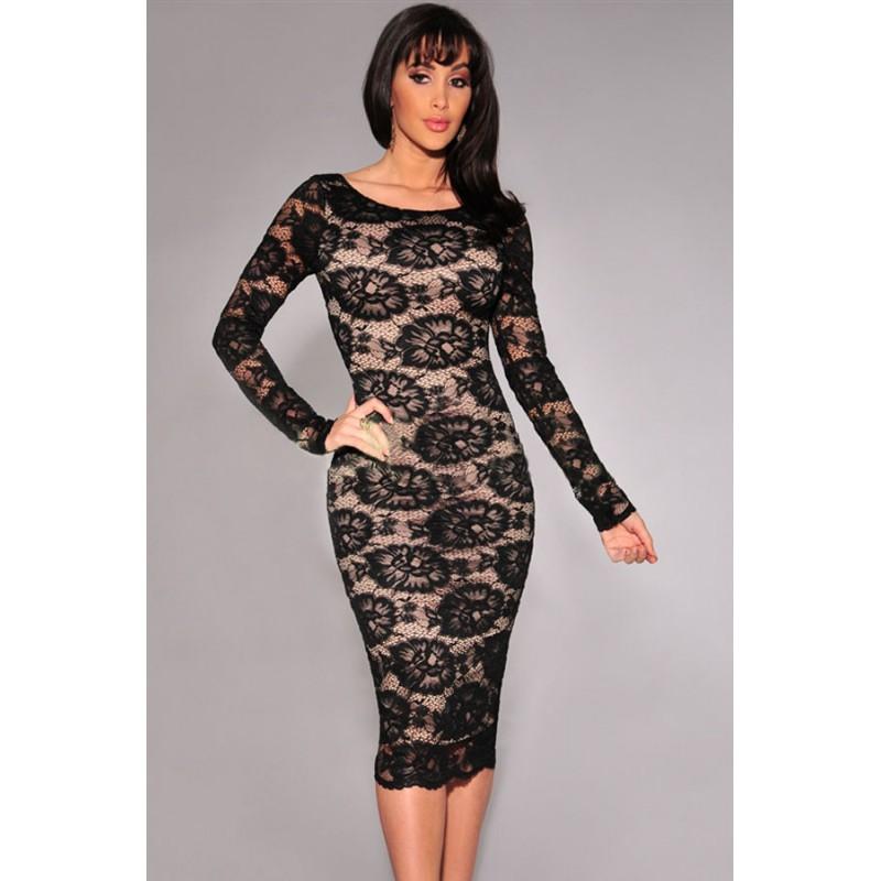 La robe en dentelle florale blanche ou noire sur Bustiers