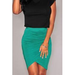 La jupe drapée rose, noire ou verte