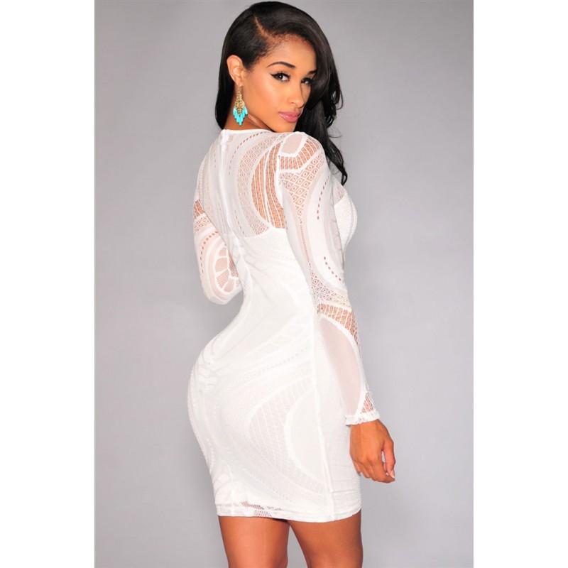 Robe blanche courte serree