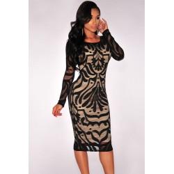 La robe nude manches longues noire ou blanche