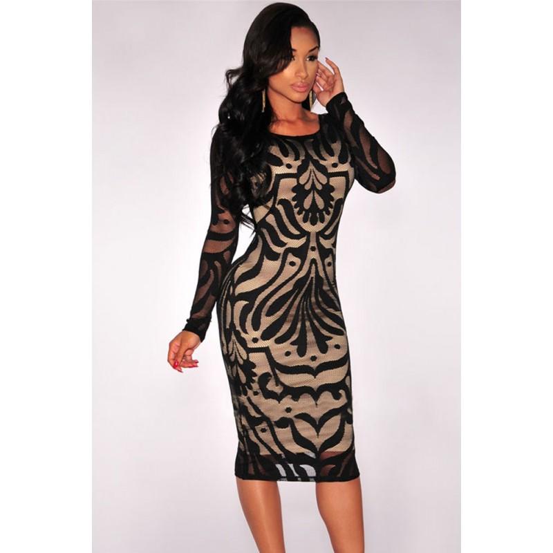 la robe nude manches longues noire ou blanche sur bustiers et corsets. Black Bedroom Furniture Sets. Home Design Ideas