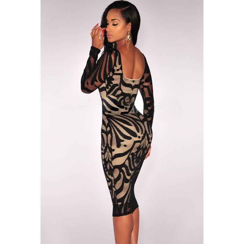 La robe sirène noire/nude sur Bustiers et Corsets