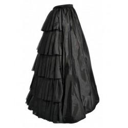 La jupe gothique noire longue