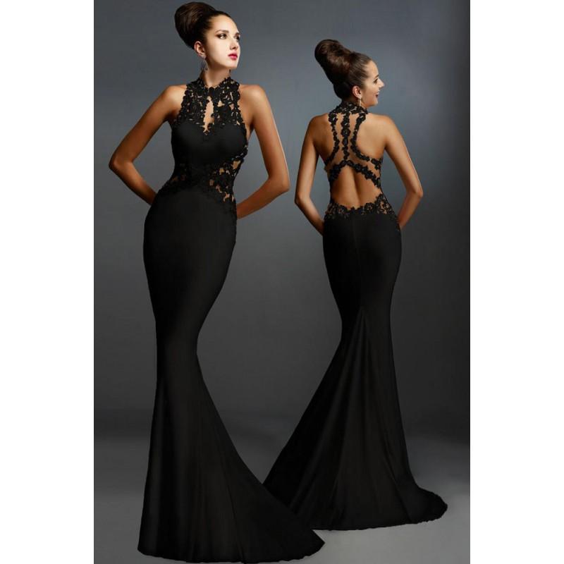Robe de ceremonie noire robe de soirée magasin   Electrogagnant 6bb693fa39f0