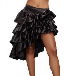 La jupe lolita en satin noir