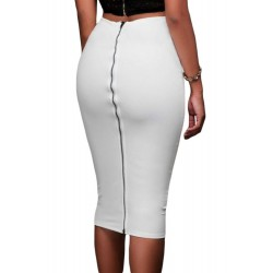 La jupe zippée dos blanche ou moccha