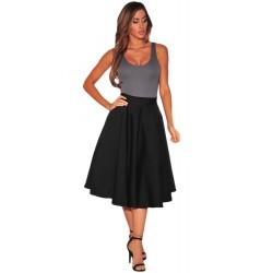 La jupe évasée lolita noire