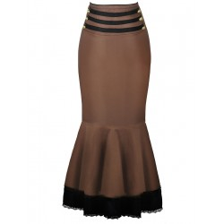 La jupe sirène moka