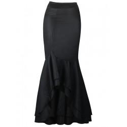 La jupe sirène satinée