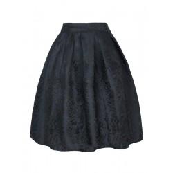 La jupe brodée vintage noire