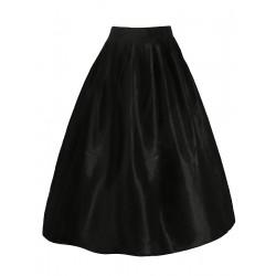 La jupe taffetas noir gohtique chic