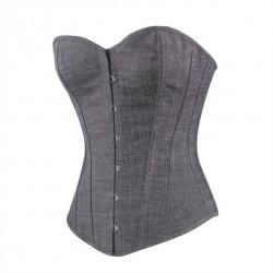 Le corset classique en jean gris