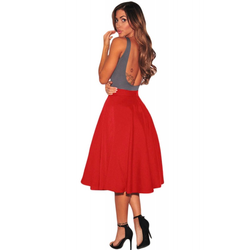 la jupe vas e lolita rouge 24 99 chez bustiers et corsets. Black Bedroom Furniture Sets. Home Design Ideas