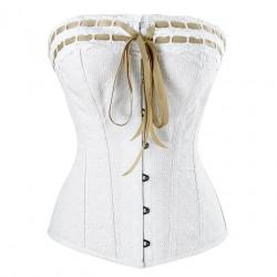 Le corset Antoinette brodereies anglaises
