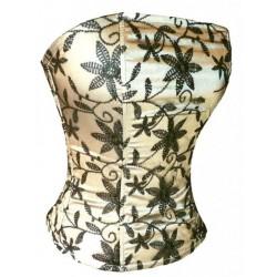 Le corset de soirée noir et or