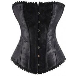 Le corset noblesse brodé noir