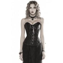 Le corset noir toucher velours Elvira
