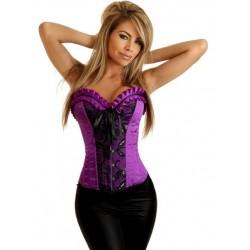 Le corset de soirée violet brodé