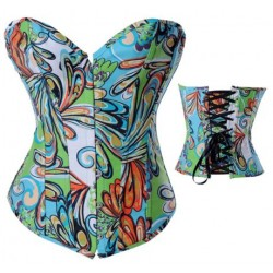 Le corset en jean fantaisie vert