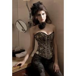 Le corset imprimé noir et or