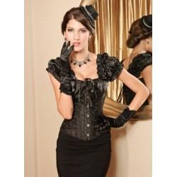 Le corset Victoria noir