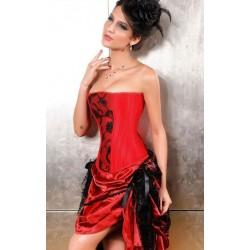 Le corset divina rouge et noir
