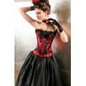 Le corset de soirée bordeaux brodé