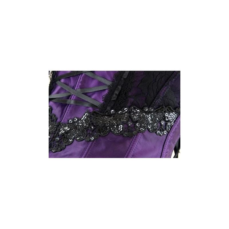 le corset charme violet et noir chez bustiers et corsets. Black Bedroom Furniture Sets. Home Design Ideas