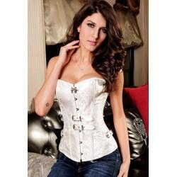 Le corset steampunk blanc