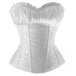 Le corset brocade blanc