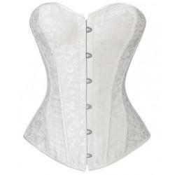 Le corset de cérémonie brodé blanc