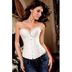 Le corset vintage blanc à strass