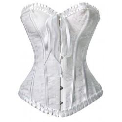 Le corset en dentelle blanc Anabelle