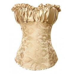Le corset brocade or