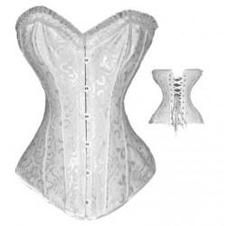 Le corset vintage blanc coupe plongeante