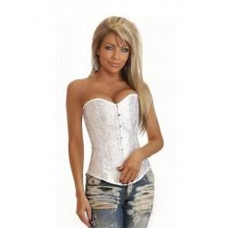 Le corset imprimé blanc