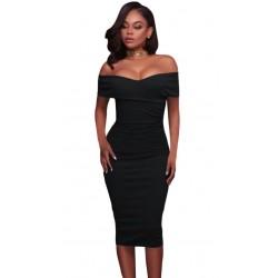 La robe de soirée noire épaules nues