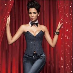 Le corset en jean très classe