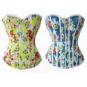 Le corset à fleurs réversible