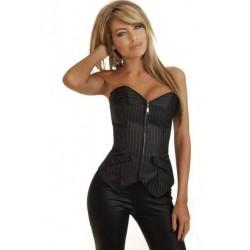 Le corset rayé noir et blanc très classe