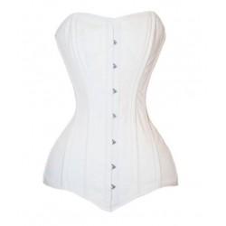 Le corset médiéval blanc armatures aciers