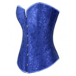 Le corset vintage bleu foncé