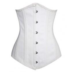 Le serre-taille en coton blanc armatures acier
