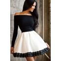 La robe élégance noir et blanche