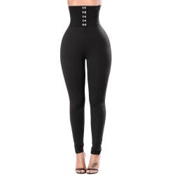 Le legging noir ceinture corset