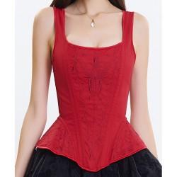 Le débardeur corset rouge époque