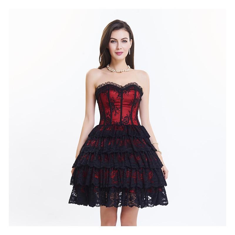 La Robe Bustier Rouge Et Noir Bustiers Et Corsets